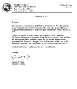 Letter from Governor 2013
